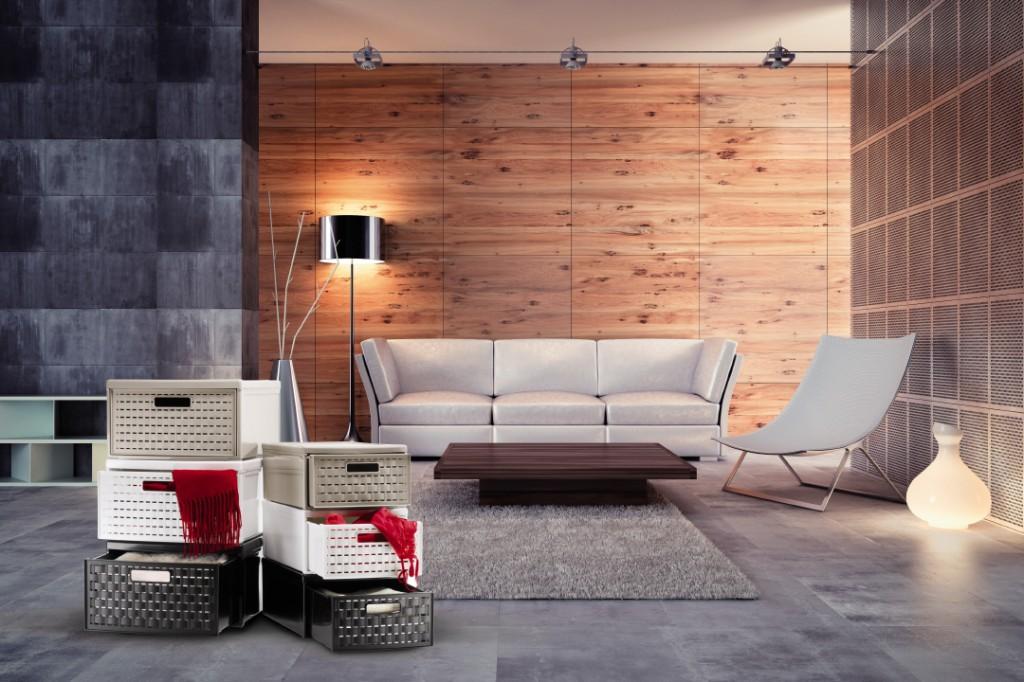 Rattanboxen fürs Wohnzimmer