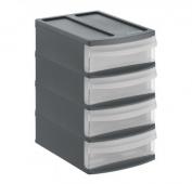 Schubladenbox SYSTEMIX Tower XS  anthrazit