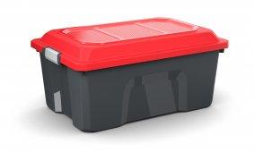 Box LOCKER 40 l  schwarz/rot