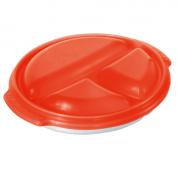 Mikrowellenteller MICRO CLEVER 0.75 l  papaya rot