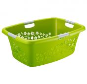 Wäschekorb FLOWERS 50 l  grün