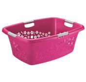 Wäschekorb FLOWERS 50 l  pink