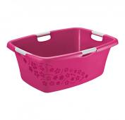 Wäschewanne FLOWERS 50 l  pink