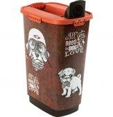 Cody Tierfutterbehälter 50 l  vintage dog