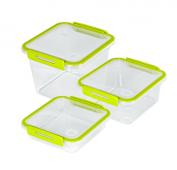 3er Set Kühlschrankdosen MEMORY 0.56 l, 1 l, 1.6 l lime grün