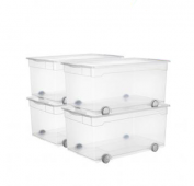 4er Set Clear Box Roller 4 63 l
