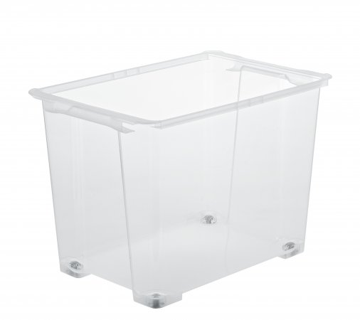 Box mit Rädern EVO EASY 65 l  transparent