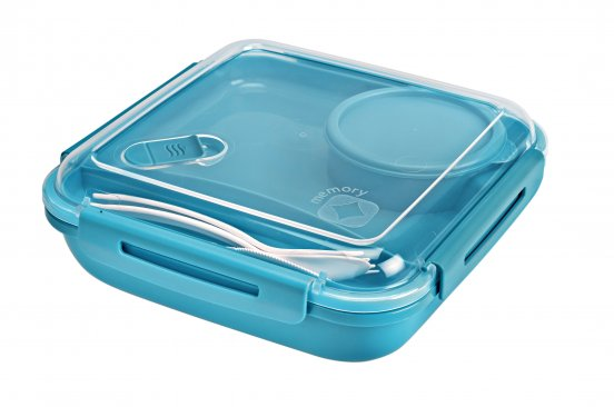 Lunchbox MEMORY 1.1 l  aqua blau