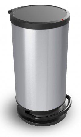 Treteimer rund PASO 30 l  silber metallic