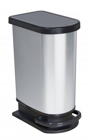 Treteimer mono PASO 50 l silber metallic