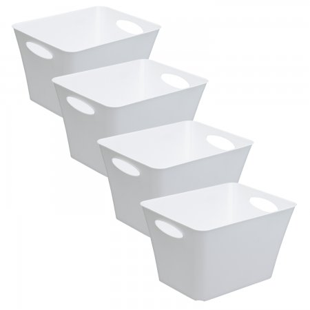 4er Set Box LIVING 24 l  weiss