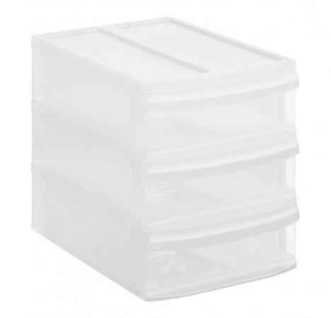Schubladenbox SYSTEMIX Tower S  transparent