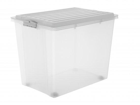 Stapelbox mit Rollen COMPACT 70 l / A3  grau