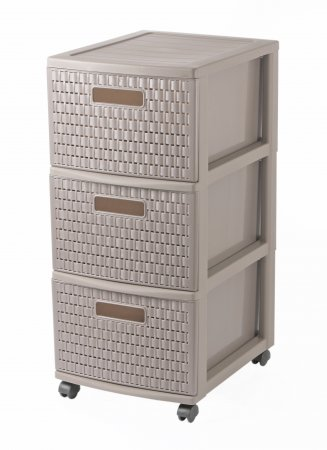 Tower mit 3 Schubladen COUNTRY 45 l  cappuccino