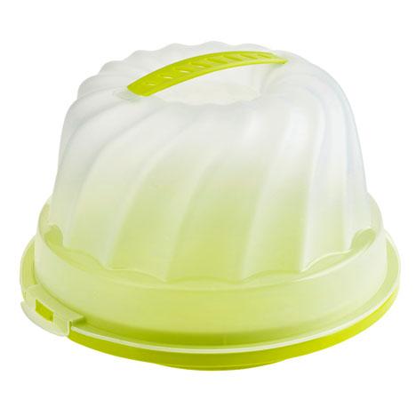 Gugelhupf - Kuchenbehälter FRESH   lime grün