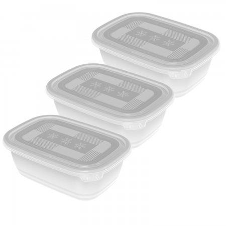 Set Gefrierdosen FREEZE 3 x 1 l weiss/transparent
