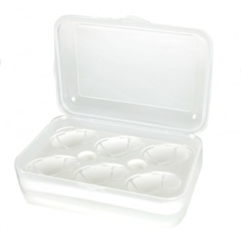 Transportbox/Eierbox für 6 Eier FUN   transparent