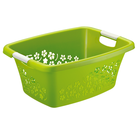 Wäschekorb FLOWERS 25 l  grün