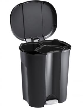 Abfalleimer TRIO 40 l schwarz