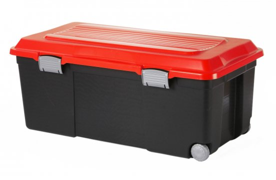 Rollbox CAMPER 75 l  schwarz/rot