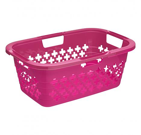 Wäschekorb SUNSHINE 37 l  pink