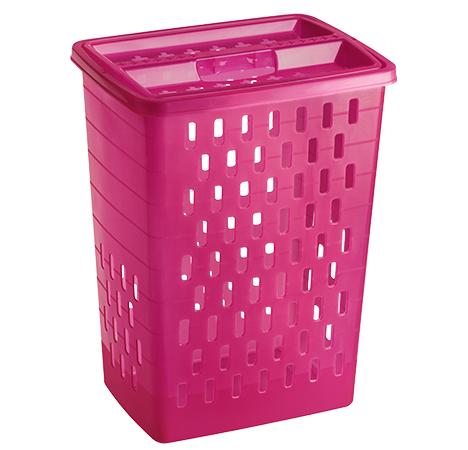 Wäschesammler SUNSHINE 40 l  pink