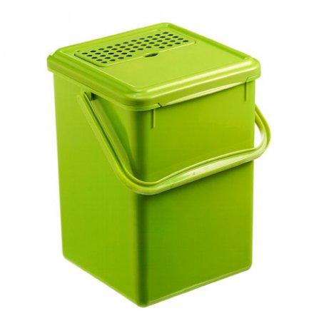 Komposteimer mit Aktivkohlefilter BIO 8 l  grün