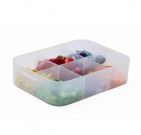 PURE Box mit Unterteilung 1.3 l / A5  transparent