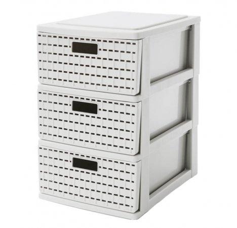 Schubladenbox 3 Schübe COUNTRY A5  weiss