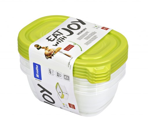 Set Kühlschrankdose SUNSHINE 4-tlg   lime grün