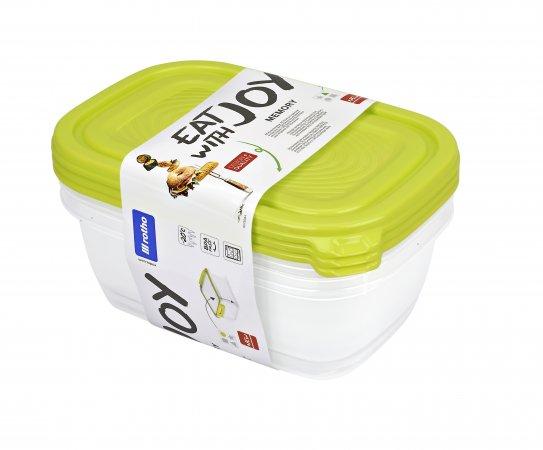 Set Kühlschrankdose SUNSHINE 3 tlg   lime grün