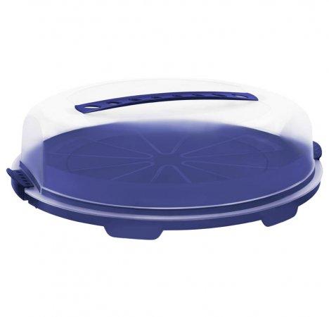 Tortenglocke flach FRESH   blau