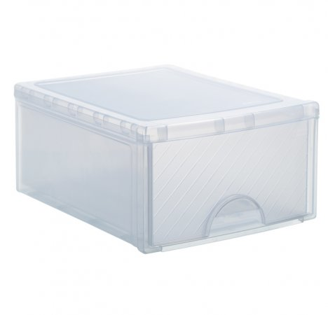 Schubladenbox gross FRONTBOX 19.2 l transparent