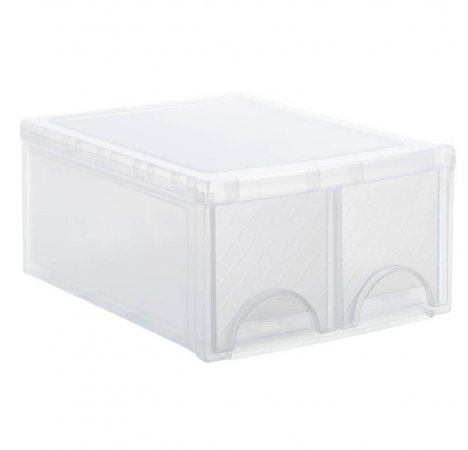 Schubladenbox TWIN FRONTBOX   transparent