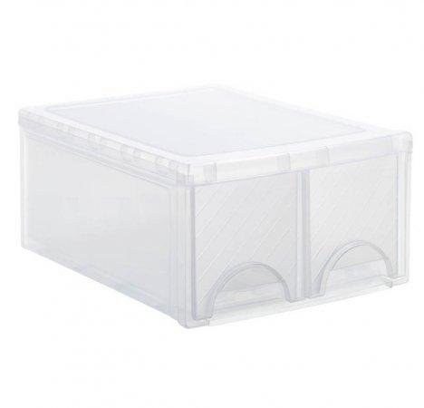 Schubladenbox TWIN FRONTBOX   transparent
