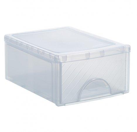 Schubladenbox klein FRONTBOX 8.3 l transparent