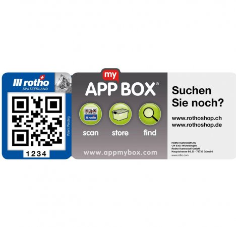 "5x ""App my Box"" Etiketten   ."