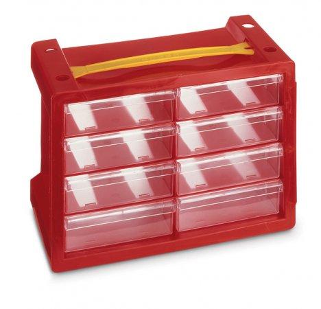 Aufbewahrungsbox Poker 8   rot