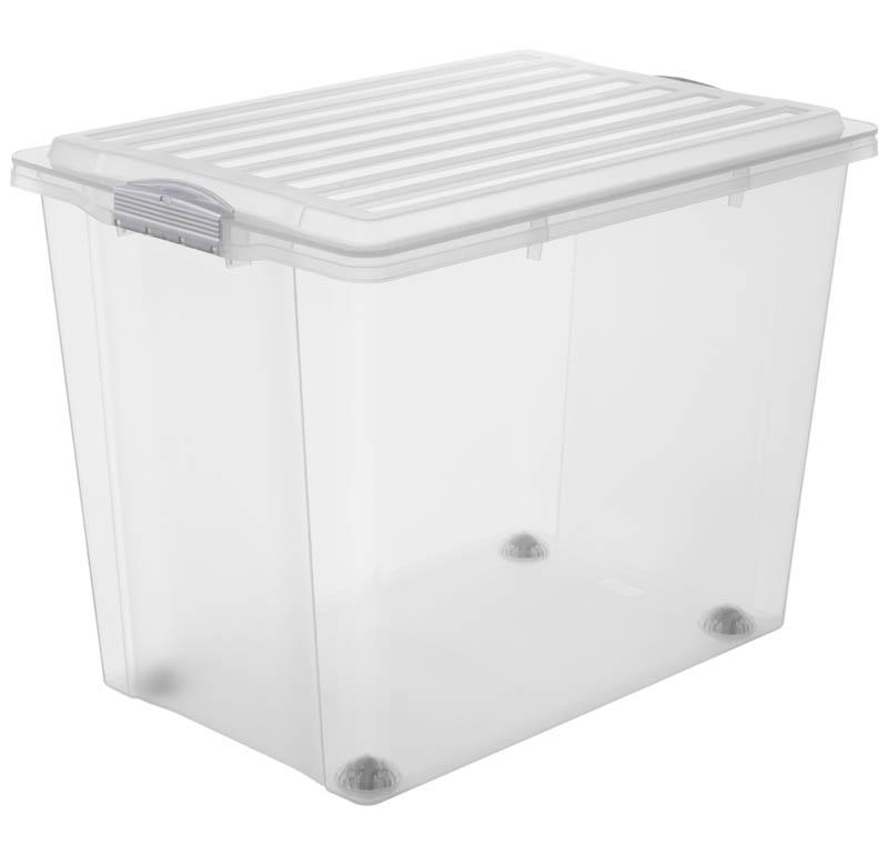stapelbox mit rollen compact 70 l a3 jetzt versandkostenfrei kaufen im rotho online shop. Black Bedroom Furniture Sets. Home Design Ideas
