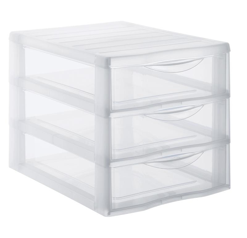 schubladenbox mit 3 sch ben a4 transparent jetzt versandkostenfrei kaufen im rotho online shop. Black Bedroom Furniture Sets. Home Design Ideas