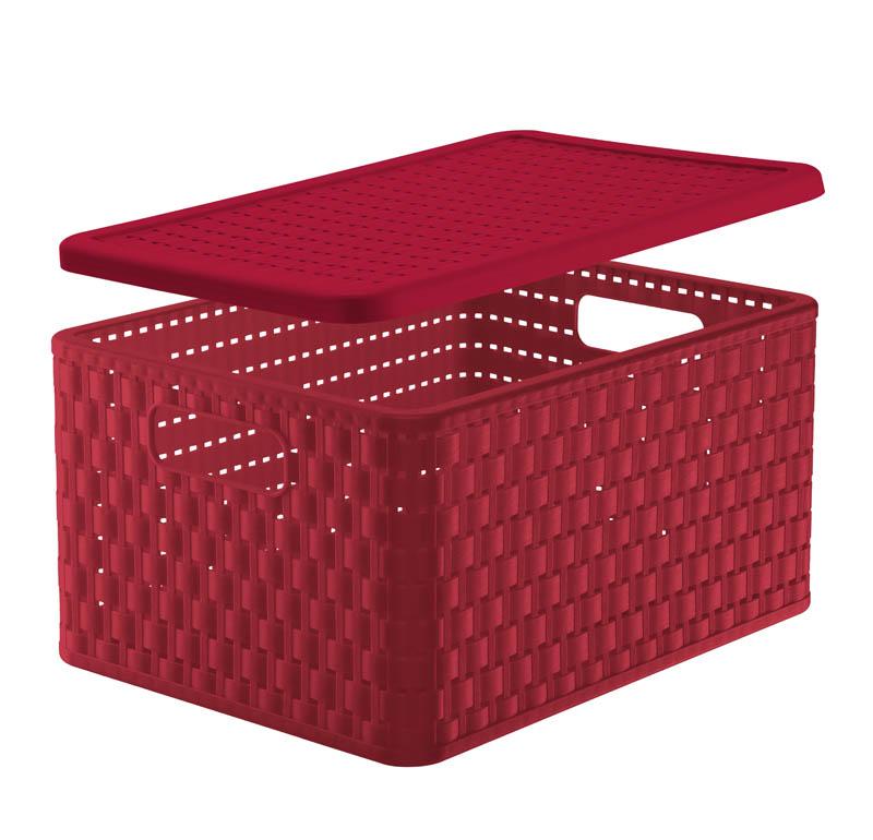 deckel zu korb country a4 rot jetzt versandkostenfrei kaufen im rotho online shop. Black Bedroom Furniture Sets. Home Design Ideas
