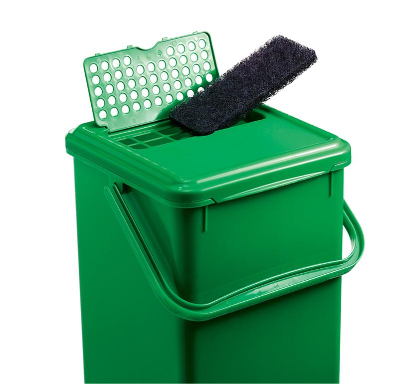 rotho komposteimer mit akf 8l gr n ebay. Black Bedroom Furniture Sets. Home Design Ideas
